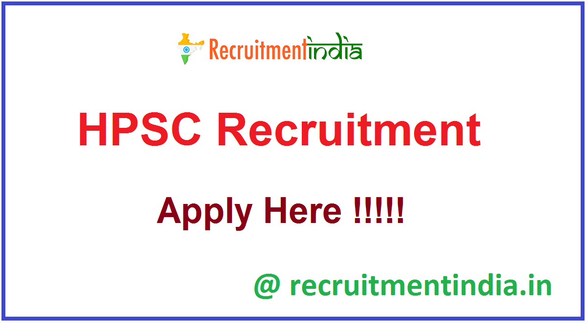 HPSC Recruitment