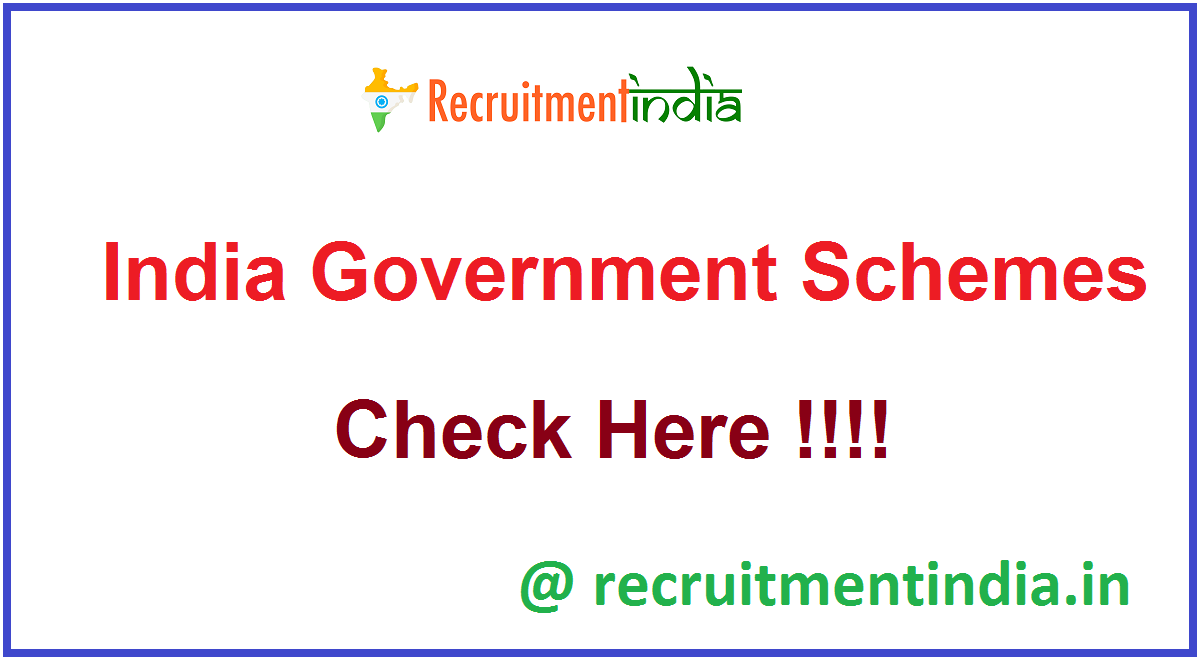 India Government Schemes