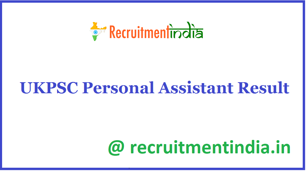 UKPSC Personal Assistant Result