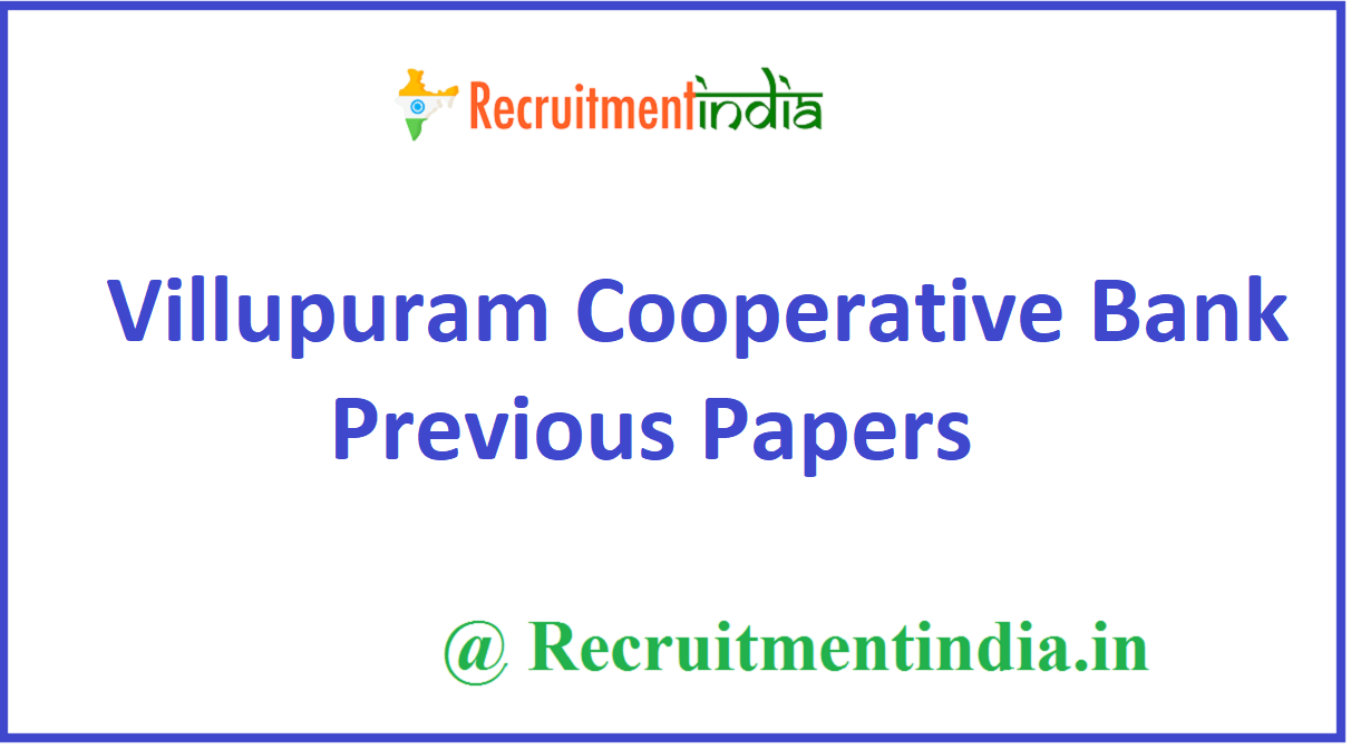 Villupuram Cooperative Bank Previous Papers
