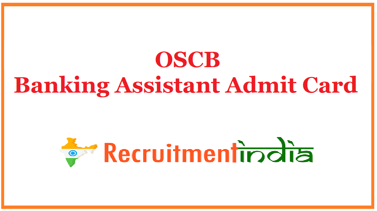 OSCB Banking Assistant Admit Card