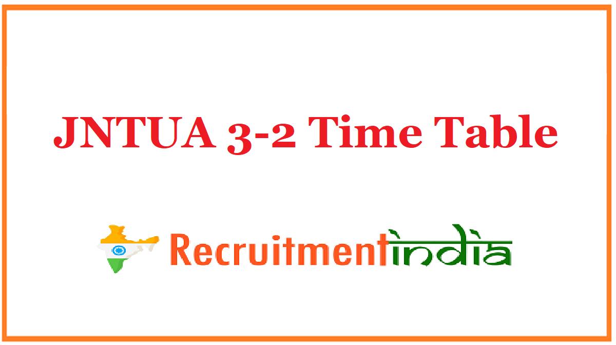 JNTUA 3-2 Time Table