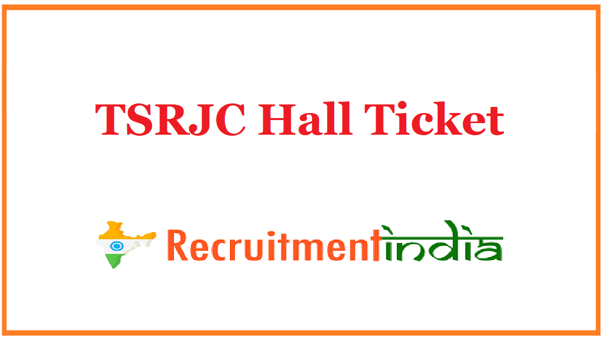 TSRJC Hall Ticket