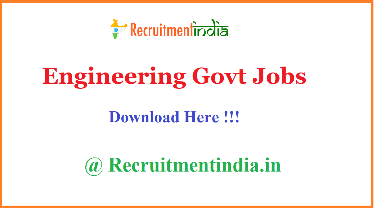 Engineering Govt Jobs