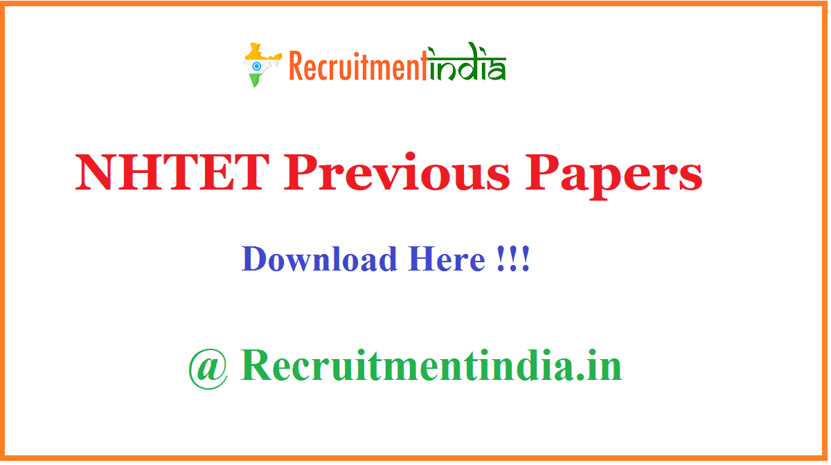 NHTET Previous Papers