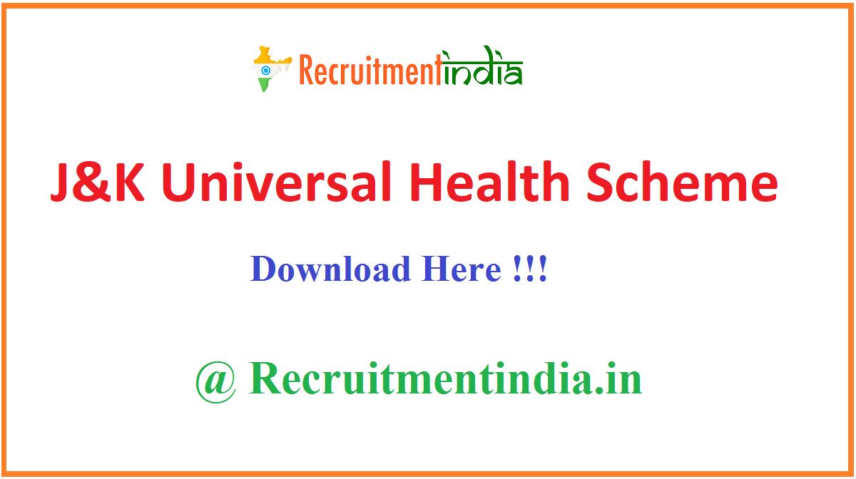 J&K Universal Health Scheme
