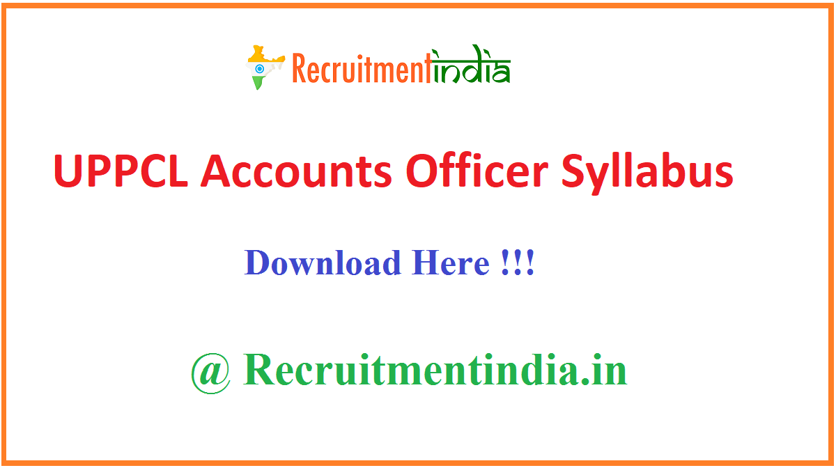 UPPCL Accounts Officer Syllabus