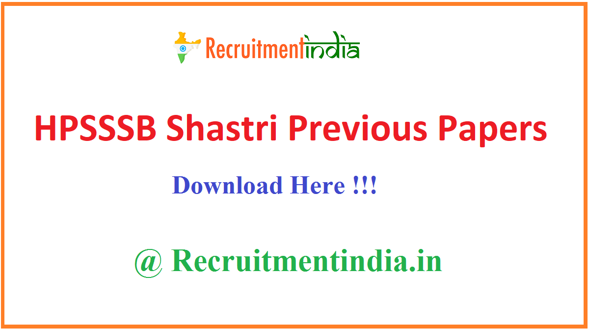 HPSSSB Shastri Previous Papers