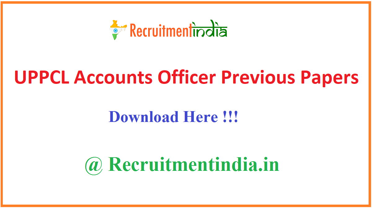 UPPCL Accounts Officer Previous Papers