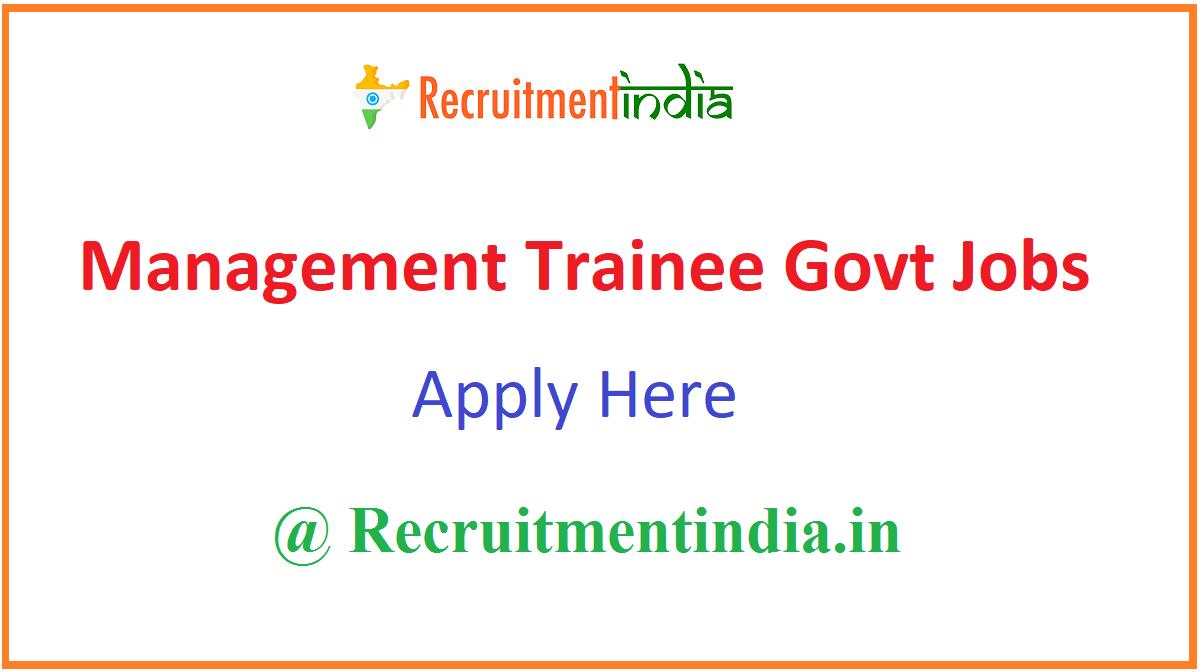 Management Trainee Govt Jobs