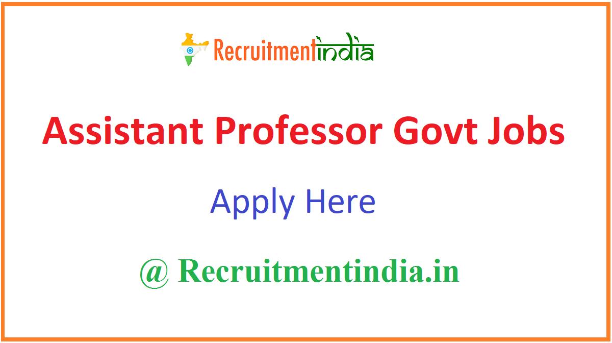 Assistant Professor Govt Jobs