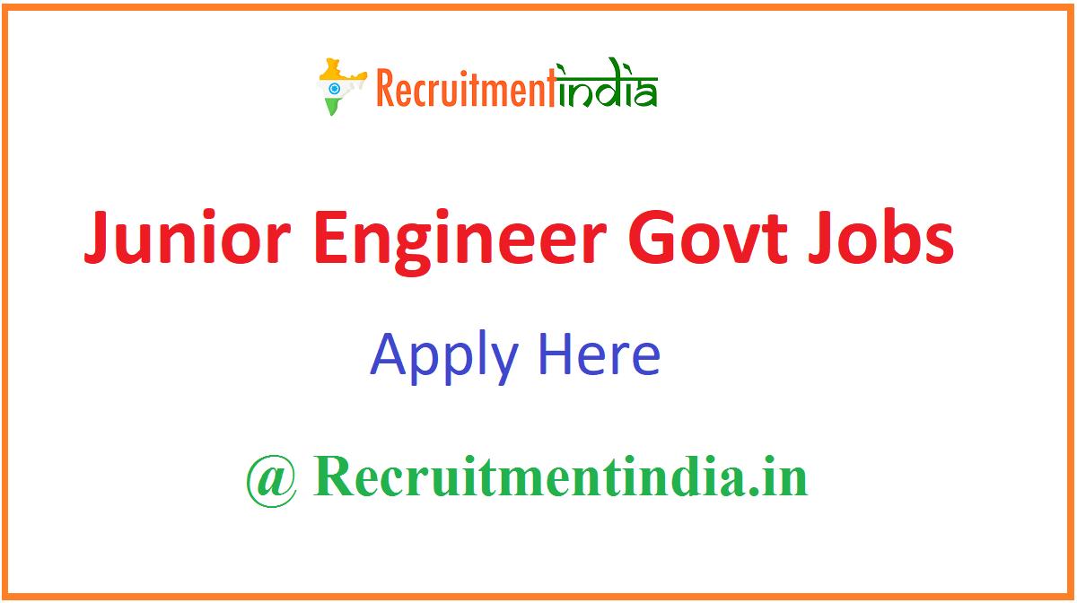 Junior Engineer Govt Jobs