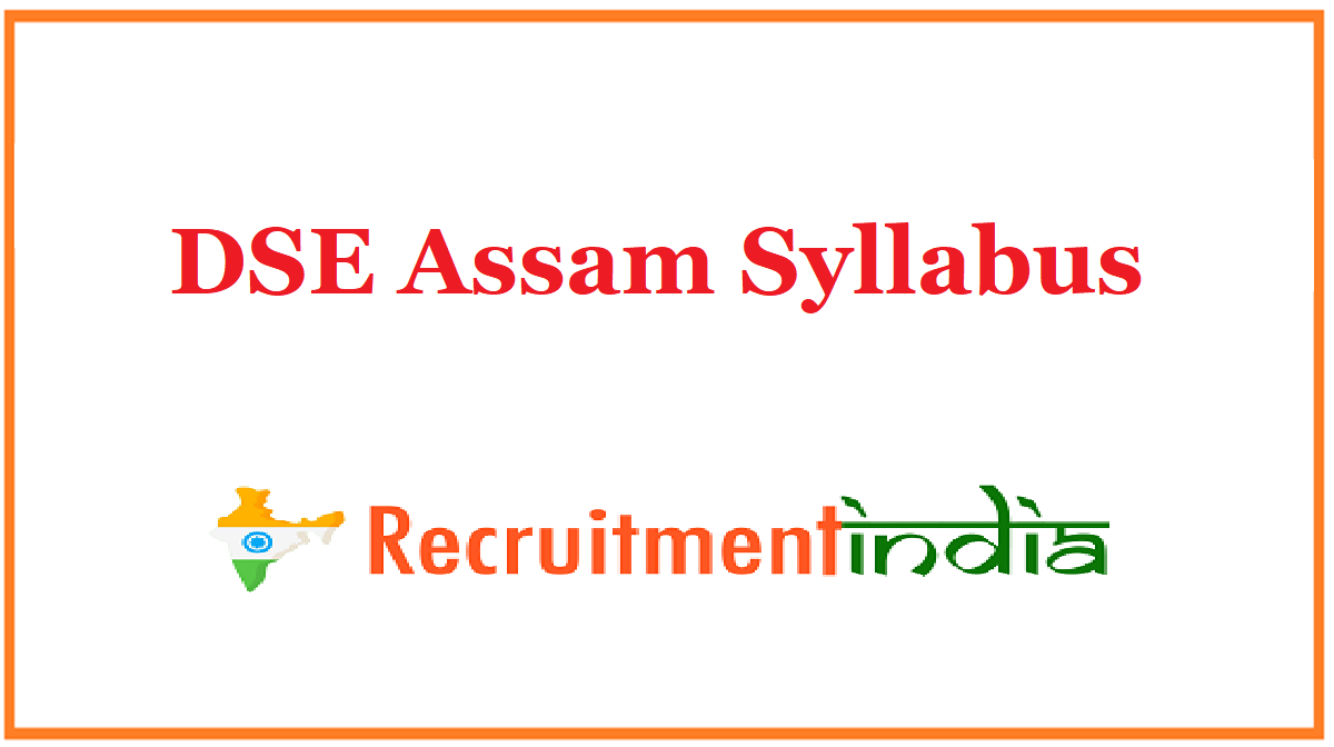 DSE Assam Syllabus