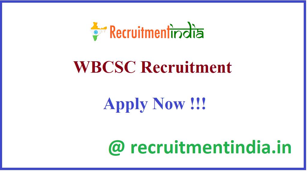 WBCSC Recruitment