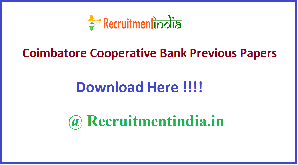 Coimbatore Cooperative Bank Previous Papers
