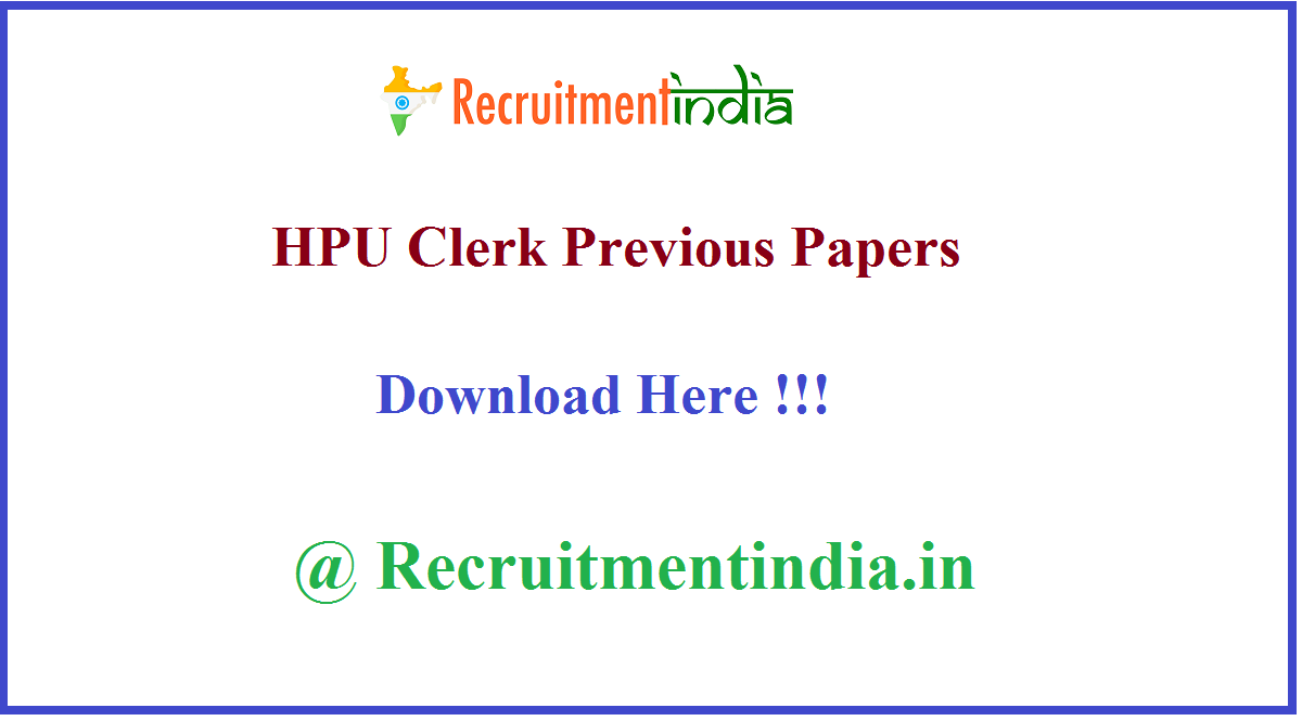 HPU Clerk Previous Papers