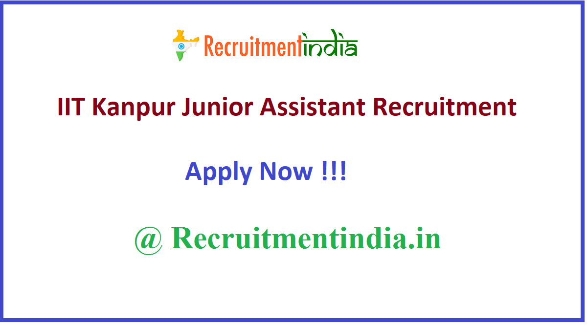 IIT Kanpur Junior Assistant