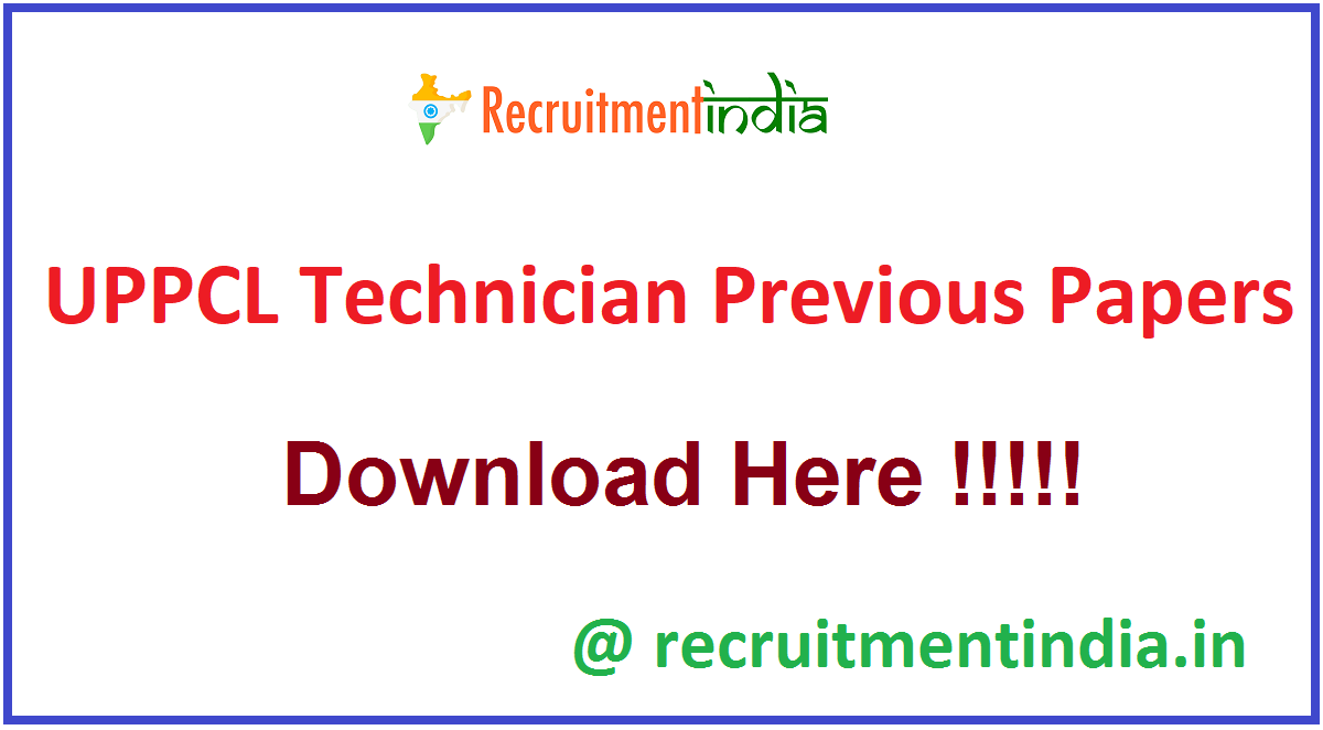 UPPCL Technician Previous Papers