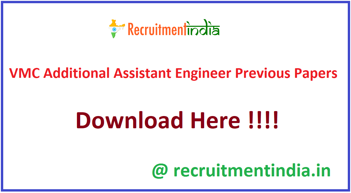 VMC Additional Assistant Engineer Previous Papers