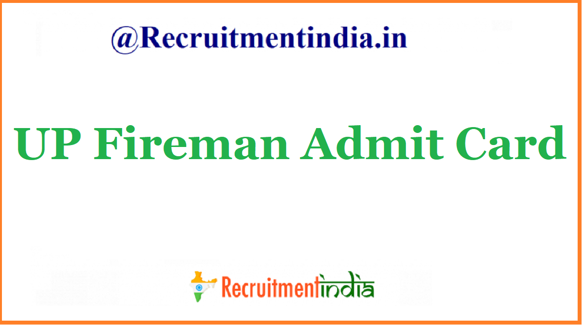UP Fireman Admit Card