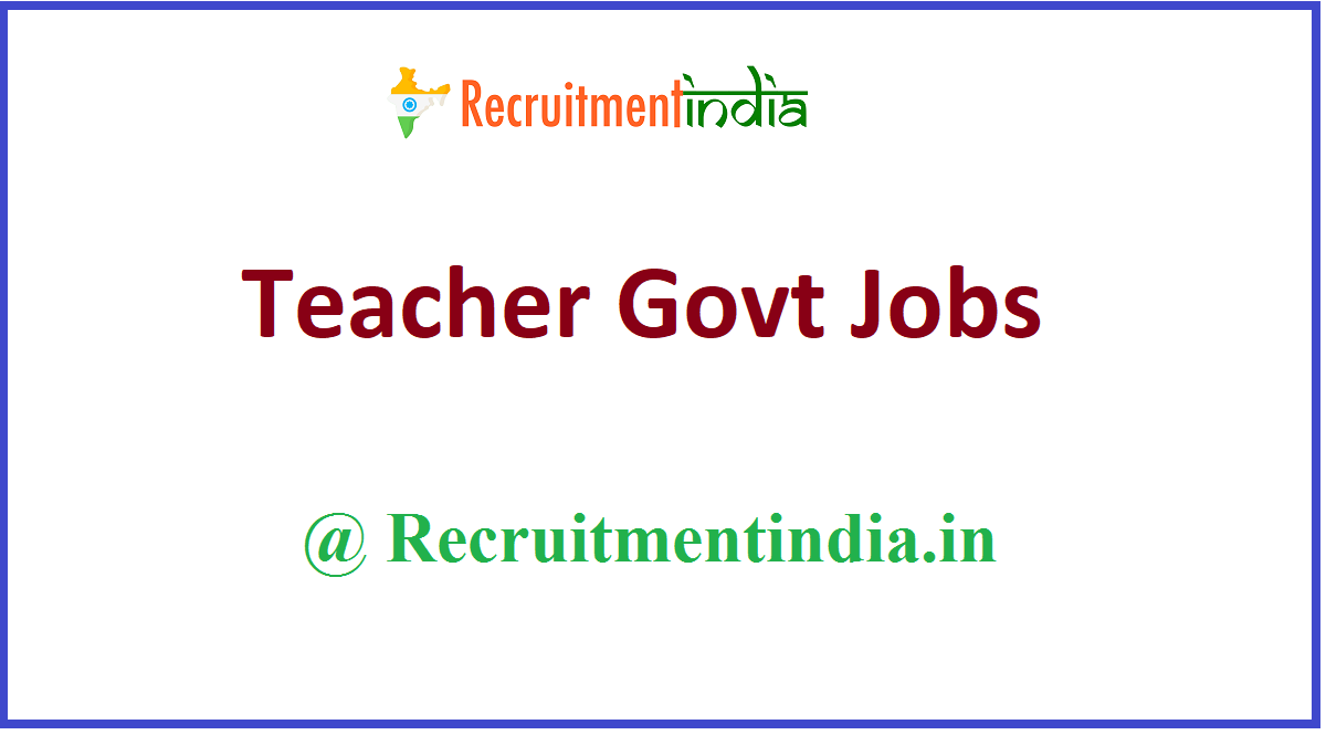 Teacher Govt Jobs