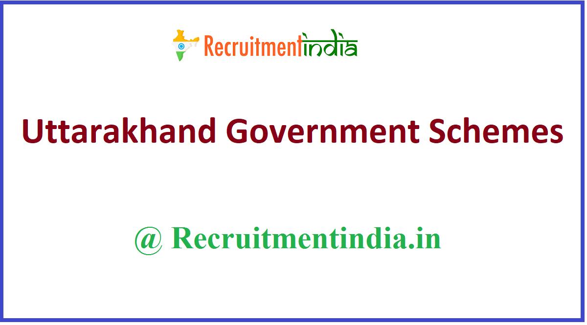 Uttarakhand Government Schemes