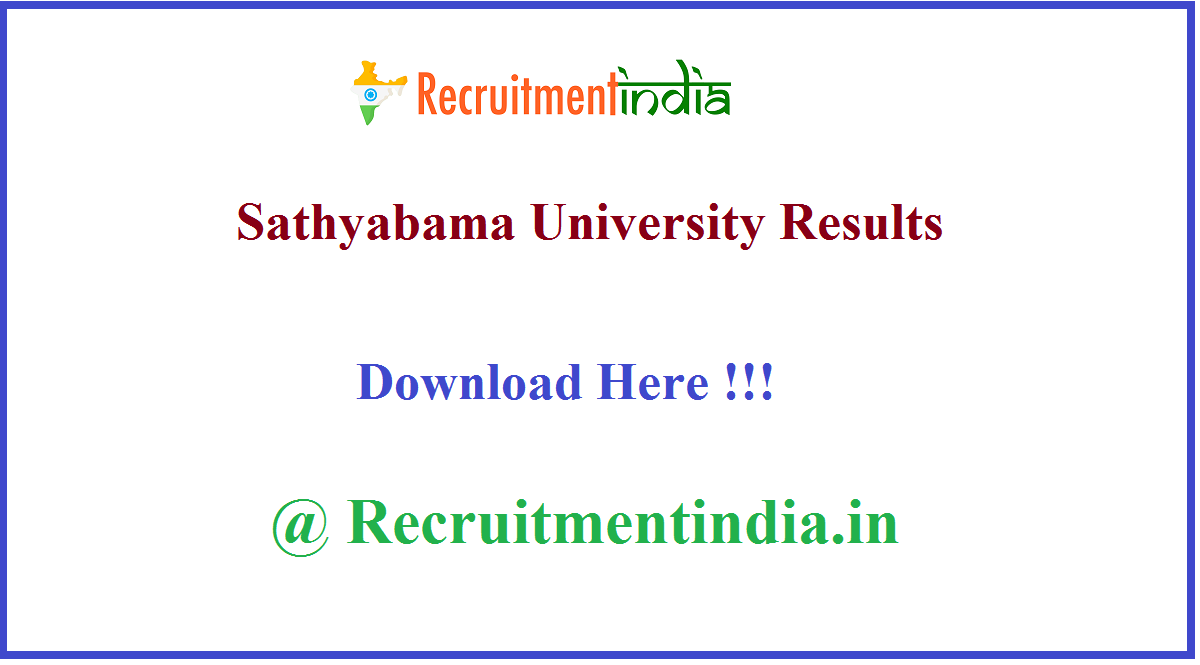 Sathyabama University Results