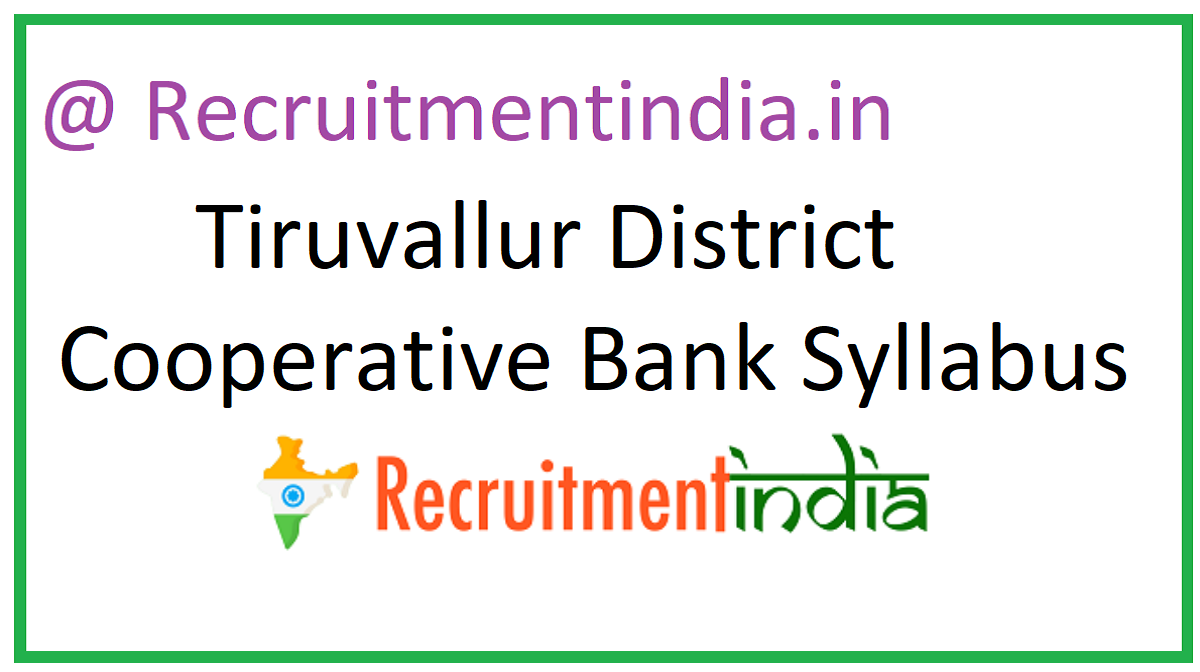 Tiruvallur District Cooperative Bank Syllabus