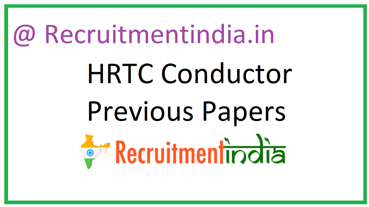 HRTC Conductor Previous Papers