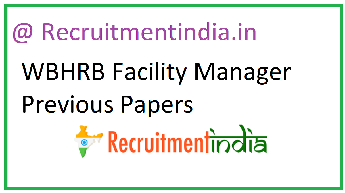 WBHRB Facility Manager Previous Papers