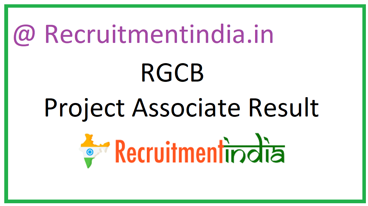 RGCB Project Associate Result