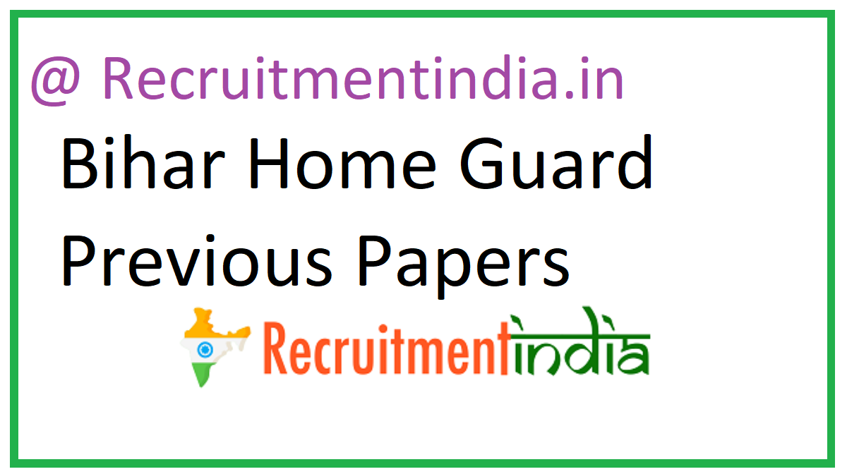 Bihar Home Guard Previous Papers