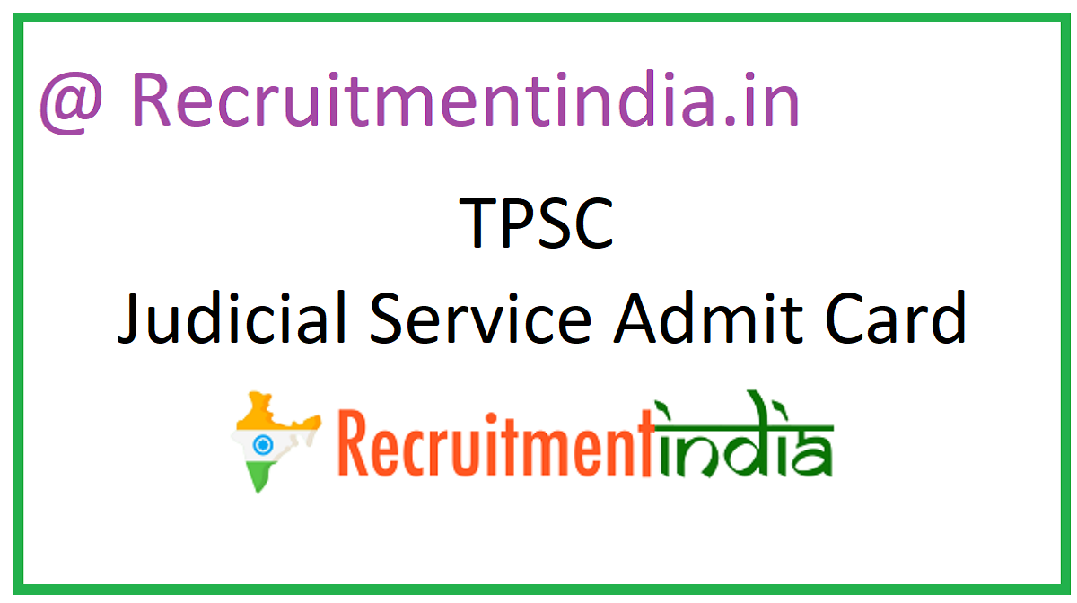 TPSC Judicial Service Admit Card