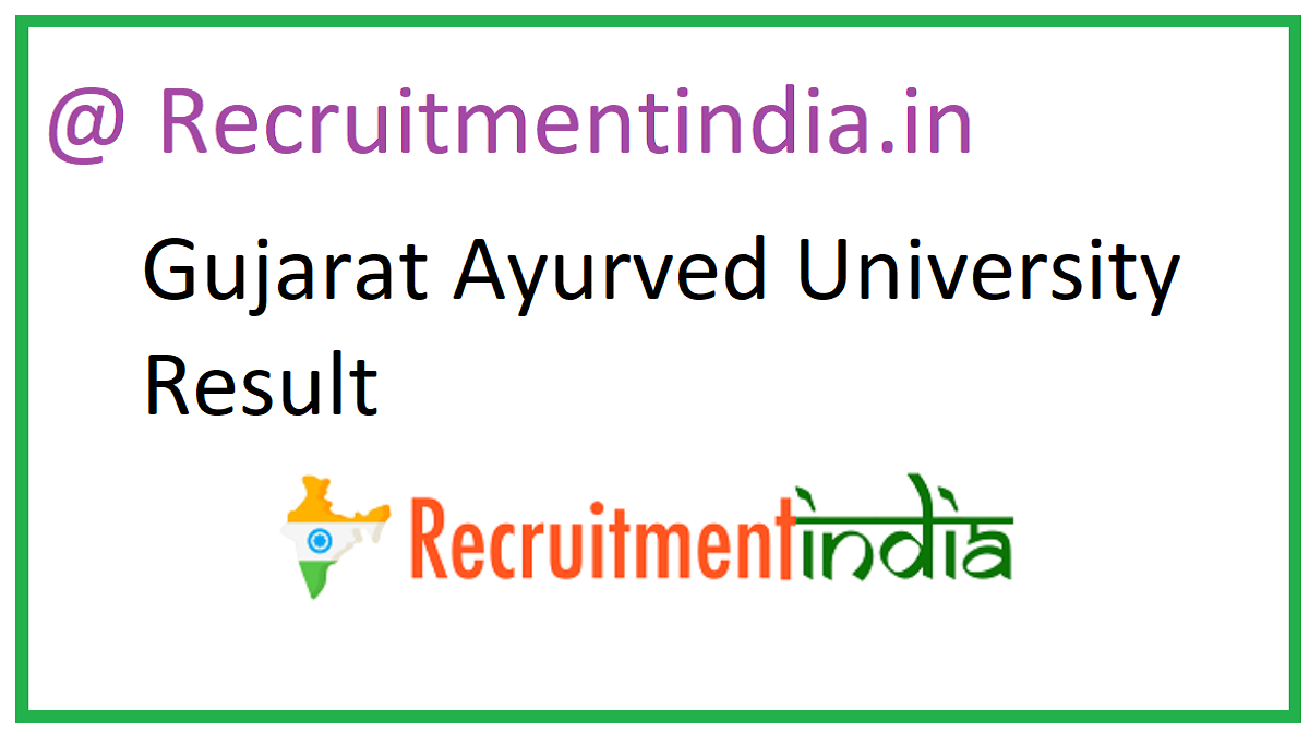 Gujarat Ayurved University Result