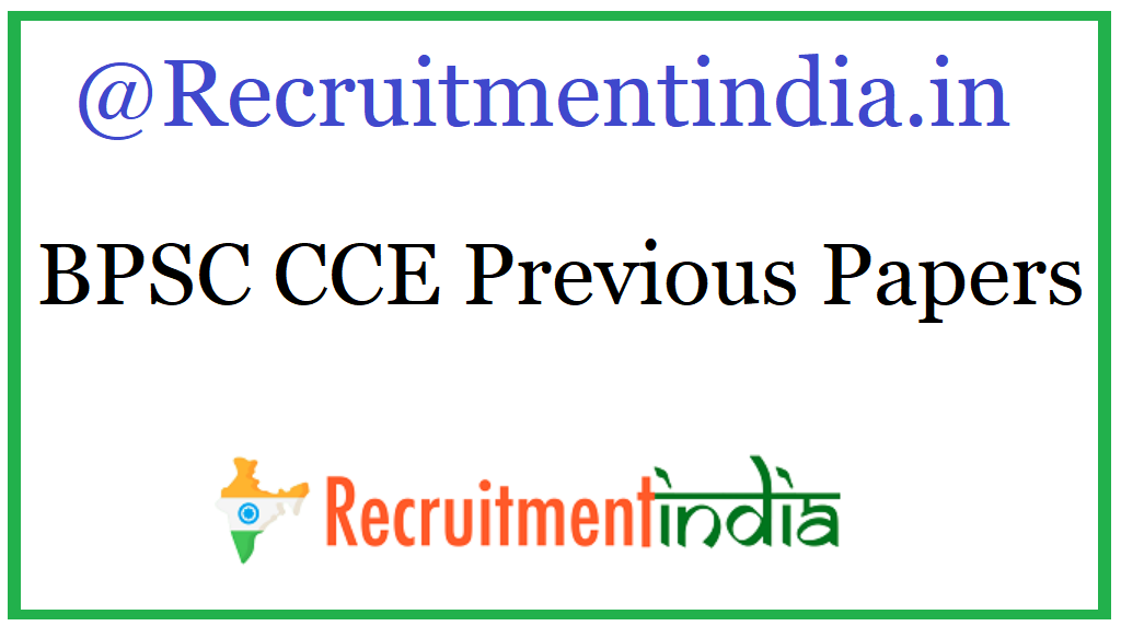 BPSC CCE Previous Papers