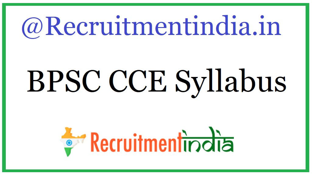BPSC CCE Syllabus