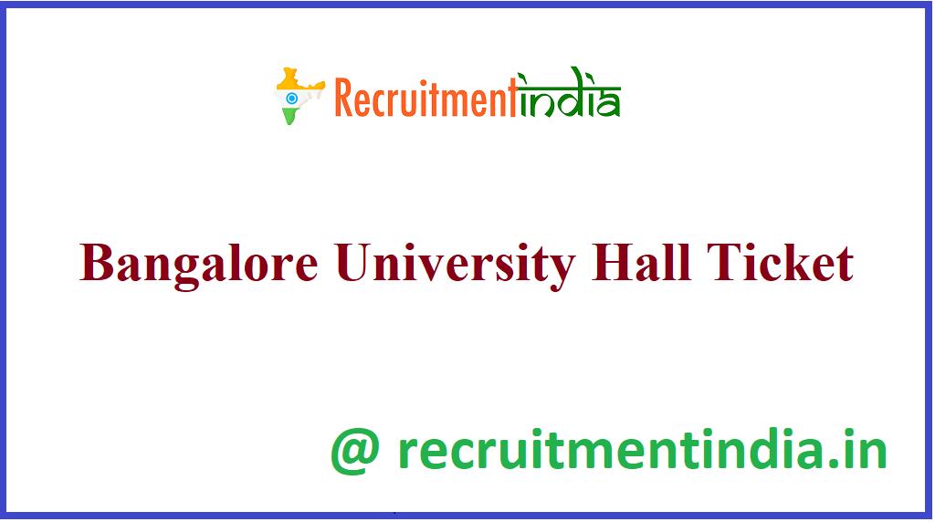 Bangalore University Hall Ticket