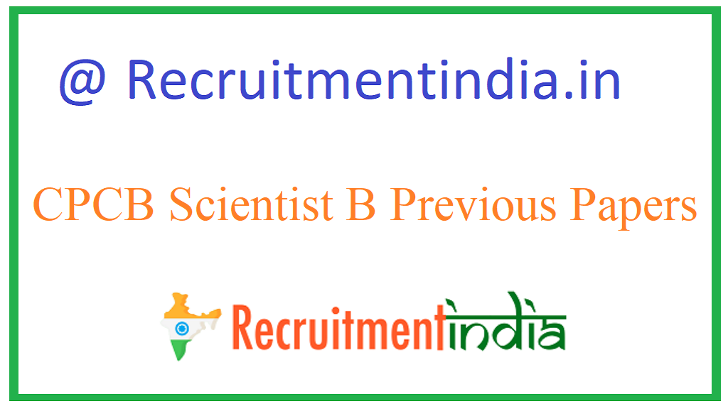 CPCB Scientist B Previous Papers