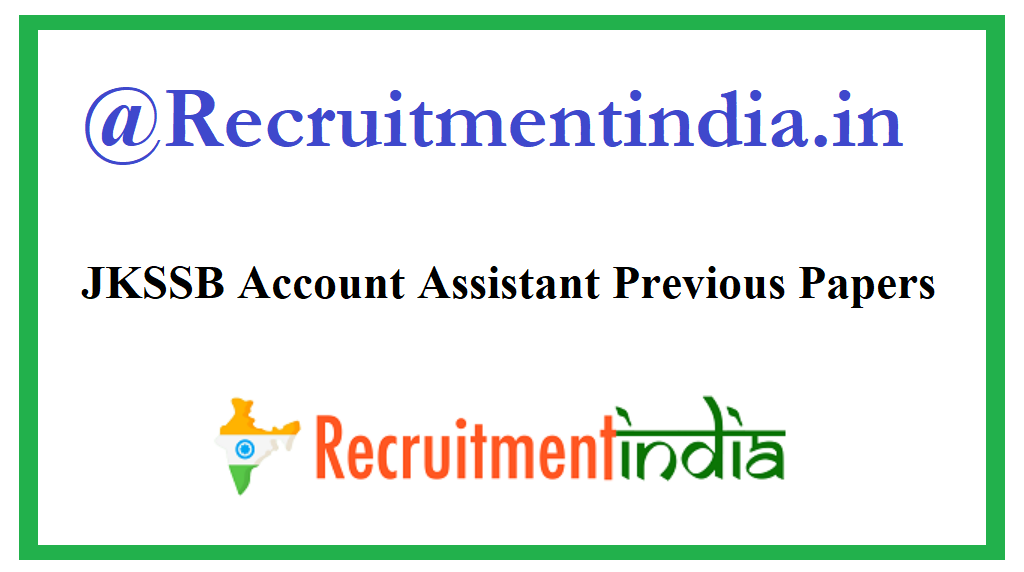JKSSB Account Assistant Previous Papers