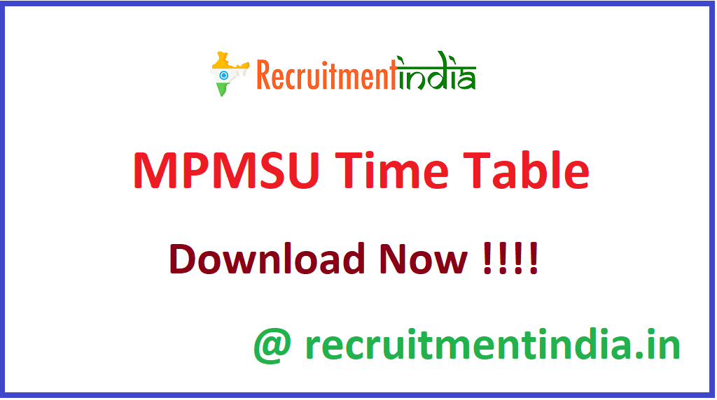 MPMSU Time Table