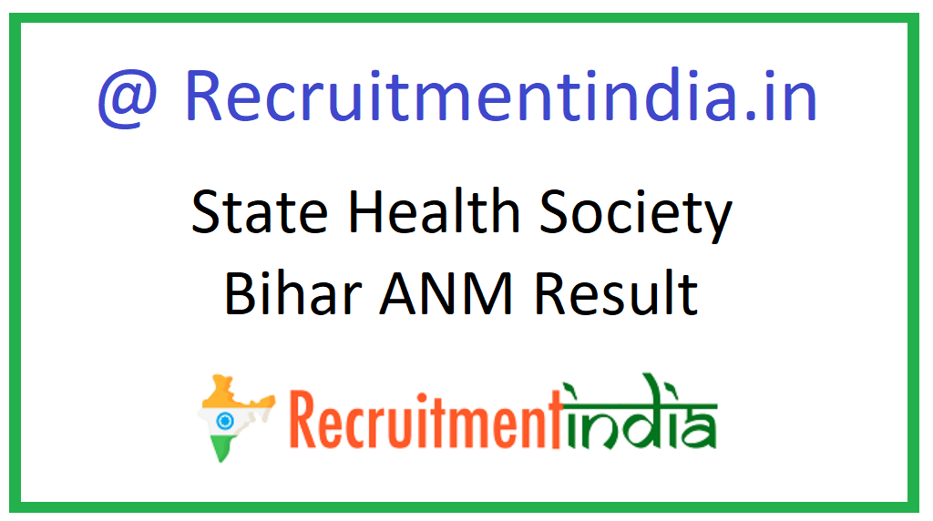 State Health Society Bihar ANM Result