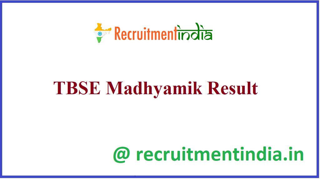 TBSE Madhyamik Result