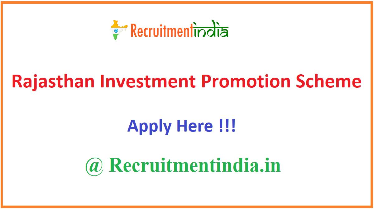 Rajasthan Investment Promotion Scheme