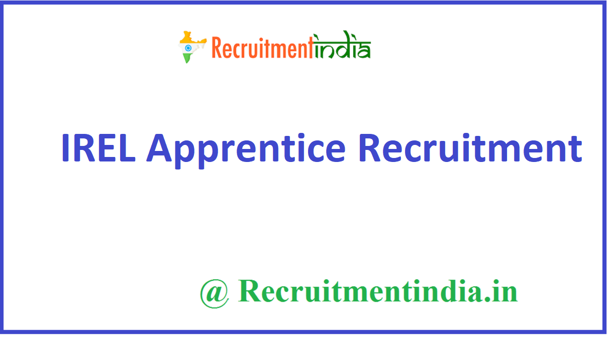 IREL Apprentice Recruitment