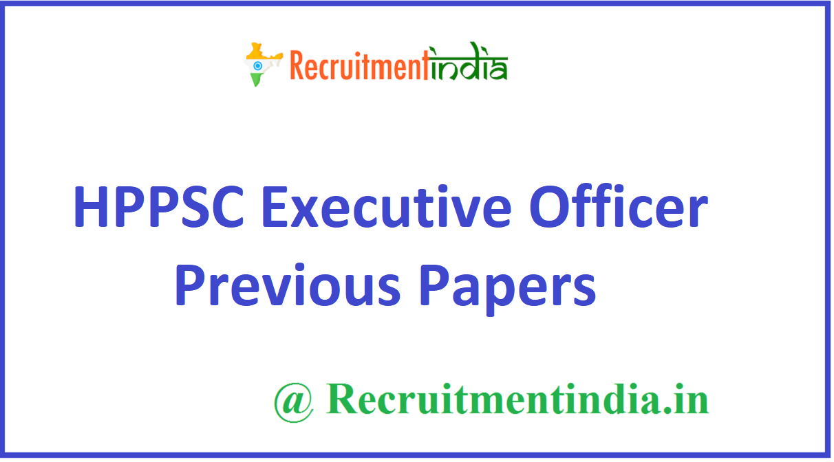 HPPSC Executive Officer Previous Papers