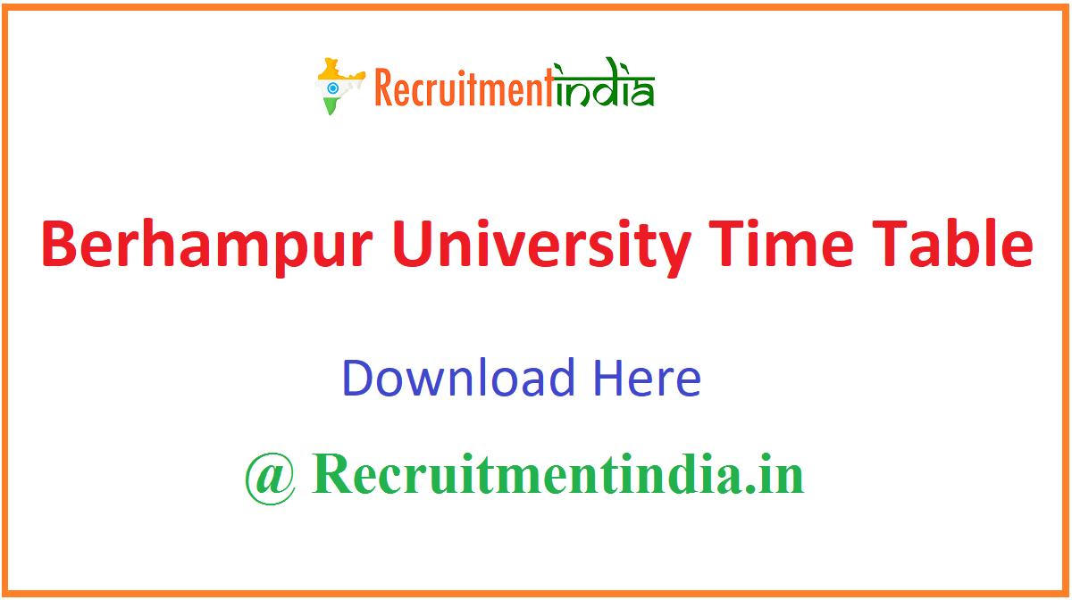 Berhampur University Time Table