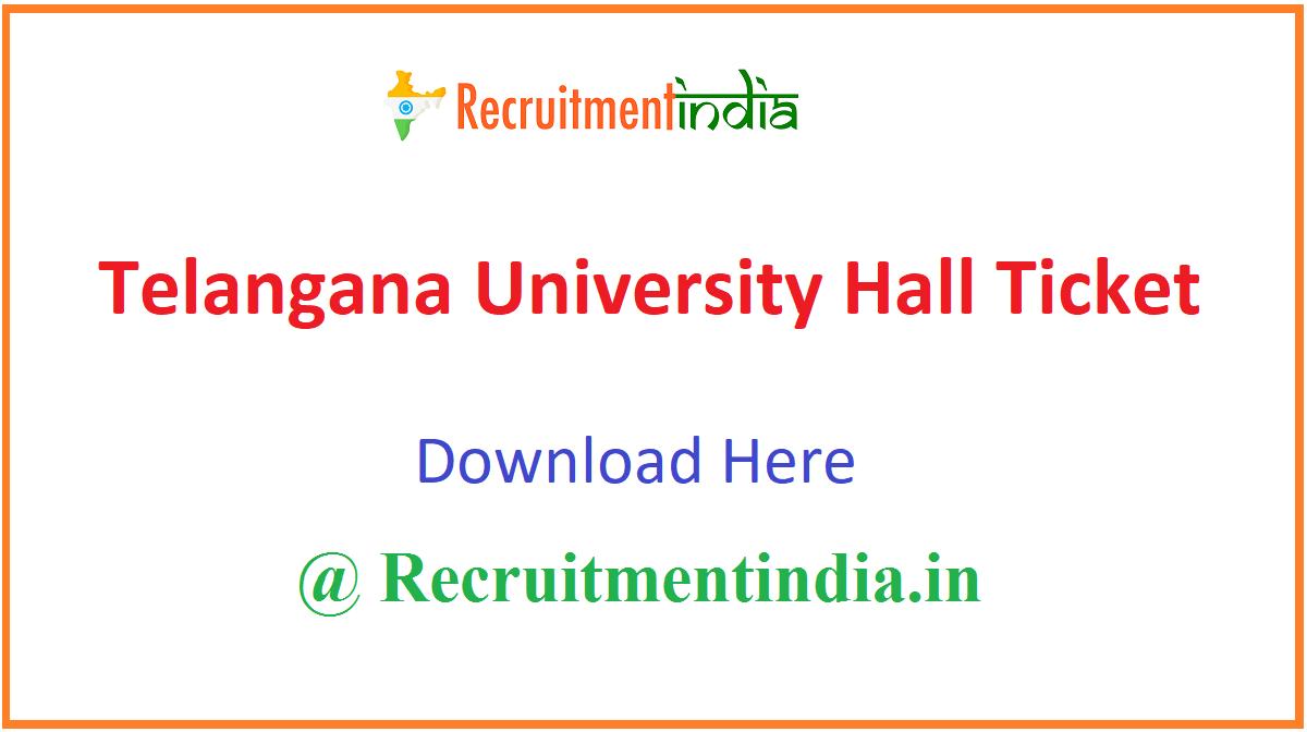 Telangana University Hall Ticket