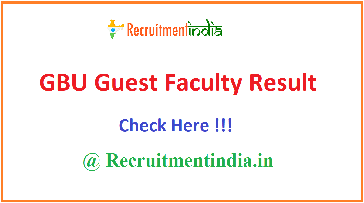 GBU Guest Faculty Result
