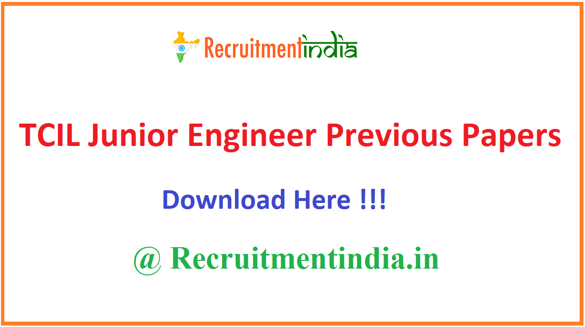 TCIL Junior Engineer Previous Papers