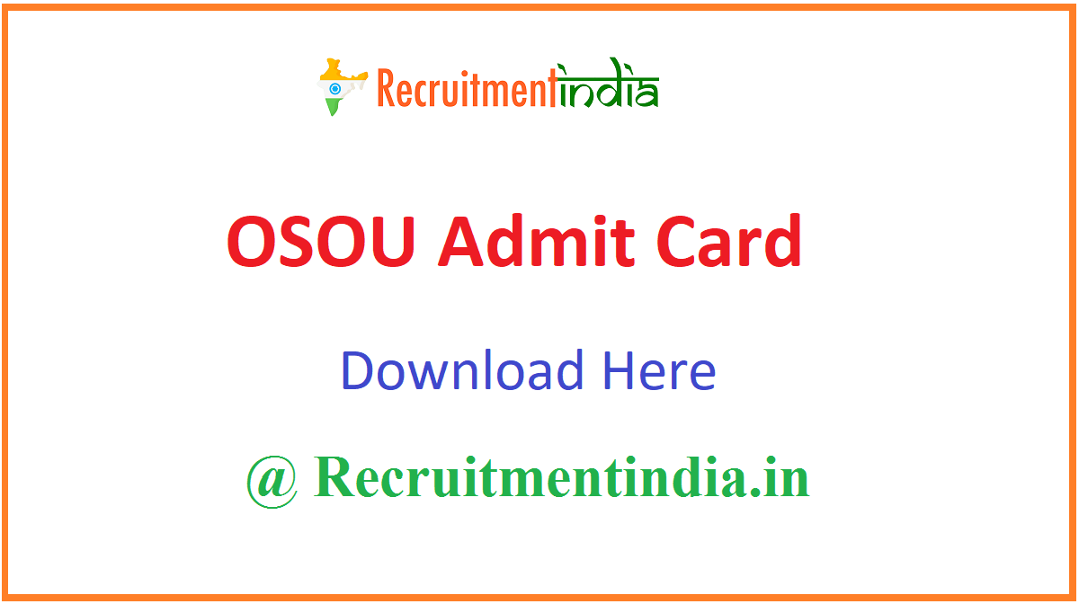 OSOU Admit Card